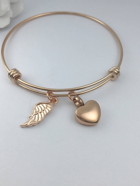 Cremation Jewelry Urn Bracelet Rose Gold Memorial