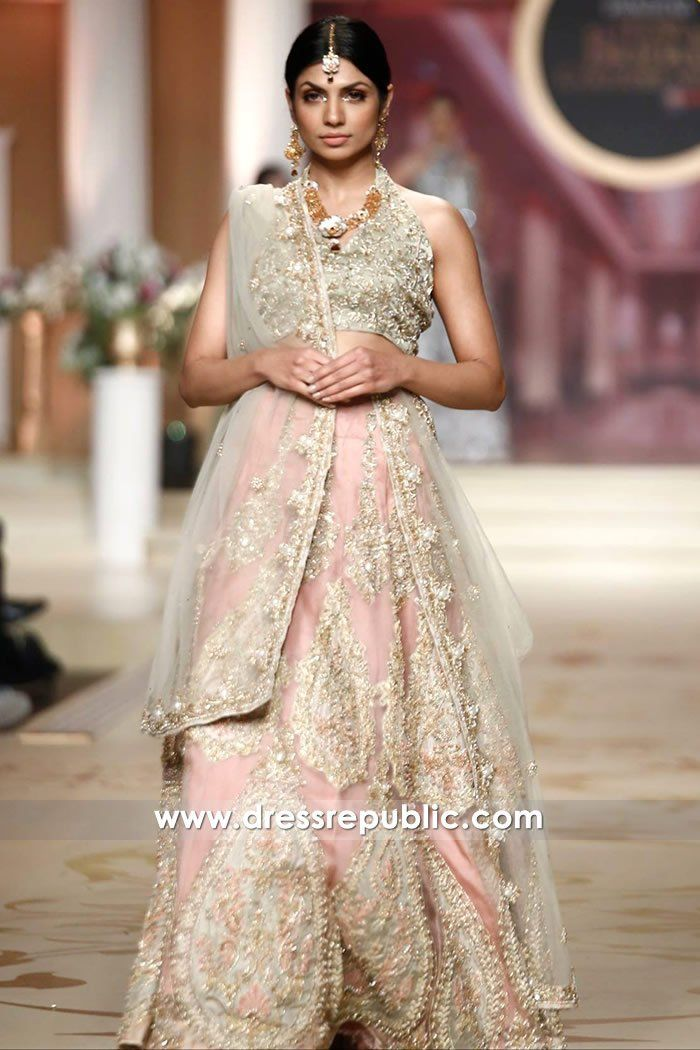 Baby Pink Bridal Dress For South Asian Bride Shop Online DR14481