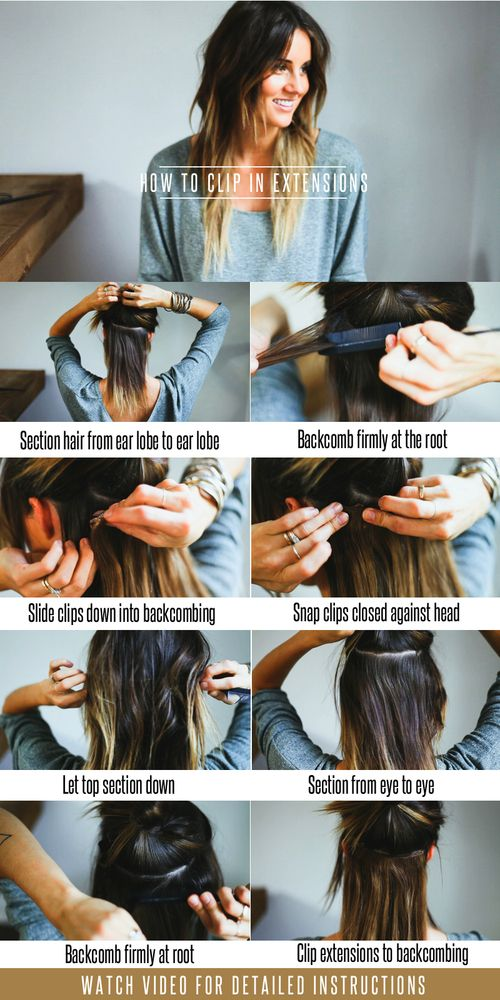 Hair extension tutorial: two looks for clip-in hair extensions.