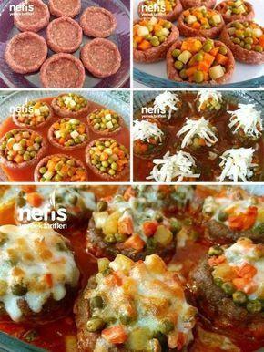 Bol Garnitürlü Çanak Köfte Tarifi nasıl yapılır? #طعام