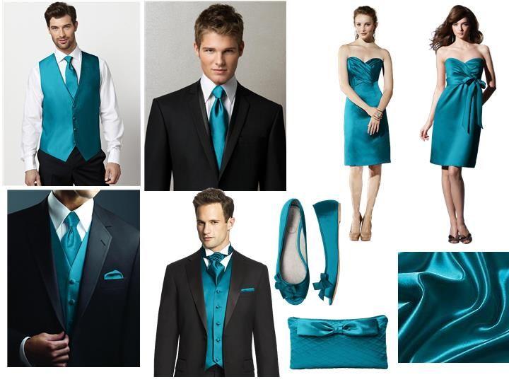 Oasis Bridesmaid Dress, Vest and Tie : PANTONE WEDDING Styleboard ...