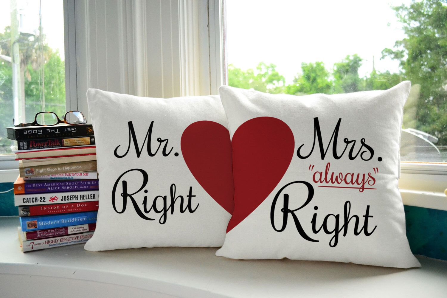 His And Hers Pillows Mr Right And Mrs Always Right Pillow