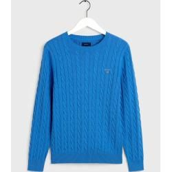 Photo of Gant Baumwoll-Strickpullover (blau) GantGant