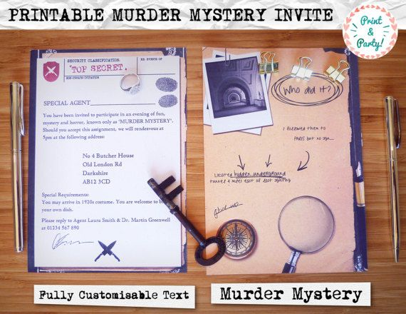 Welcome to Print \ Party, a fun and easy way to make your event - invitation wording for mystery party