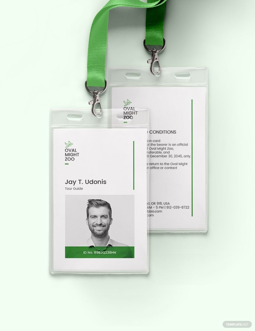 Tour Guide Id Card Template Free Pdf Word Psd Apple Pages Illustrator Publisher Id Card Template Employees Card Identity Card Design