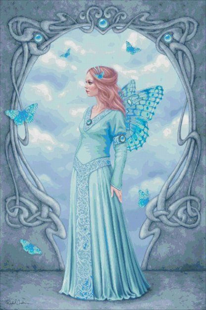 Aquamarine [ANDERSON5] - $19.00 : Heaven And Earth Designs, cross stitch, cross stitch patterns, counted cross stitch, christmas stockings, counted cross stitch chart, counted cross stitch designs, cross stitching, patterns, cross stitch art, cross stitch books, how to cross stitch, cross stitch needlework, cross stitch websites, cross stitch crafts