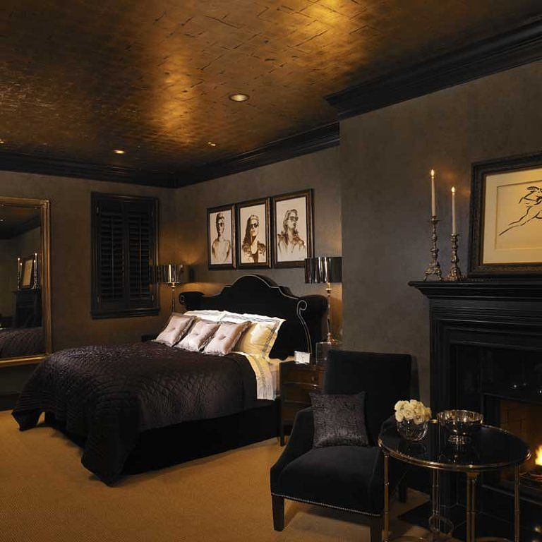 Black And Gold With Images Black Master Bedroom Gold Bedroom