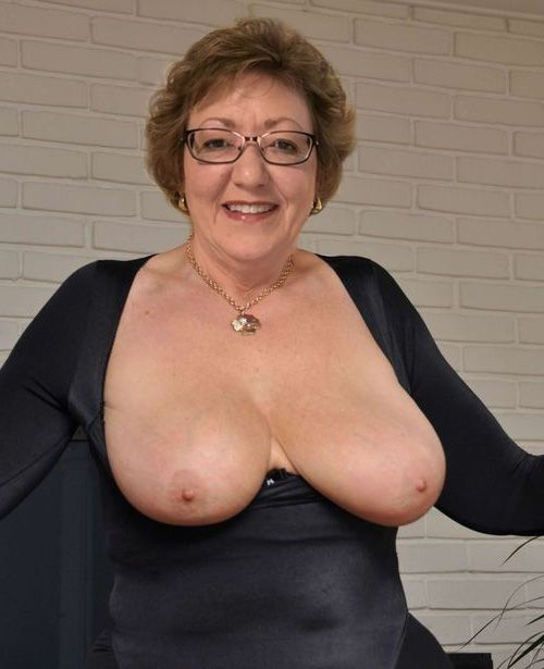 Mature boobs out