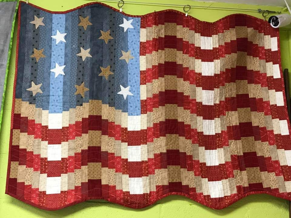 Oh Say Can You See - American Flag Quilt Class