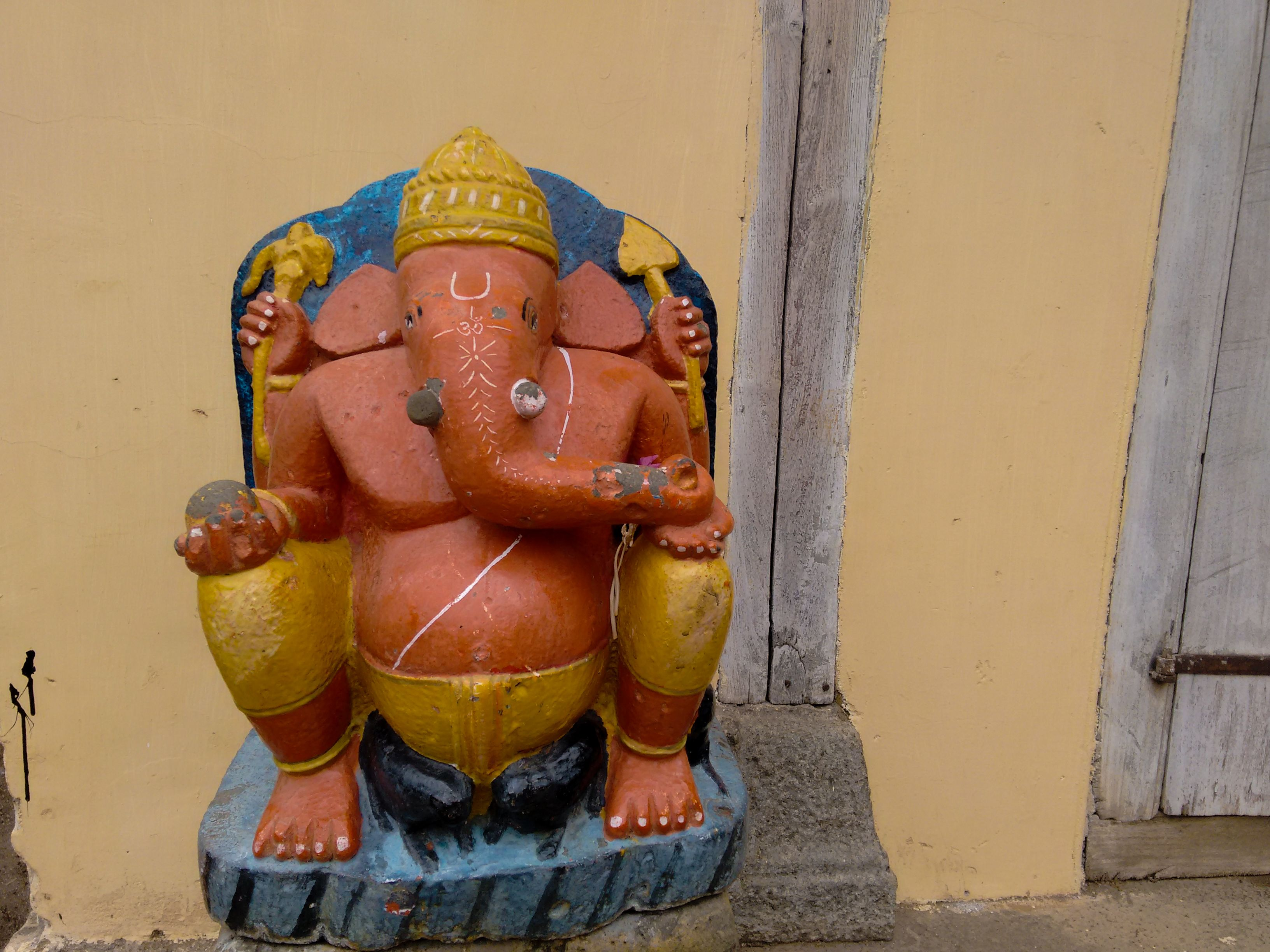 A replica of Dholya Ganpati (Wai) kept in Nana Fadanvis Wada at Menavli