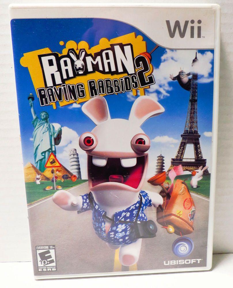 Rayman Raving Rabbids 2 Nintendo Wii 2007 Rayman