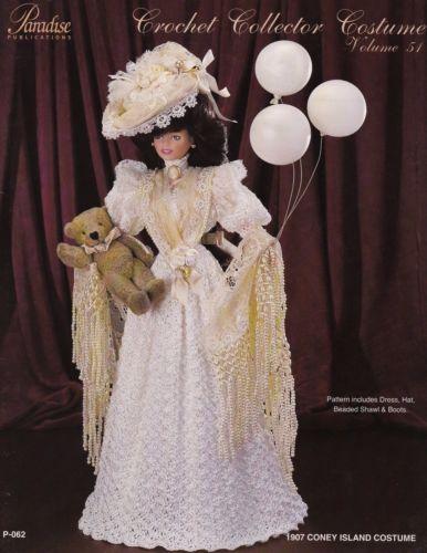 1907-Coney-Island-Costume-Vol-51-Paradise-Doll-Clothes-Crochet-Pattern-P-062