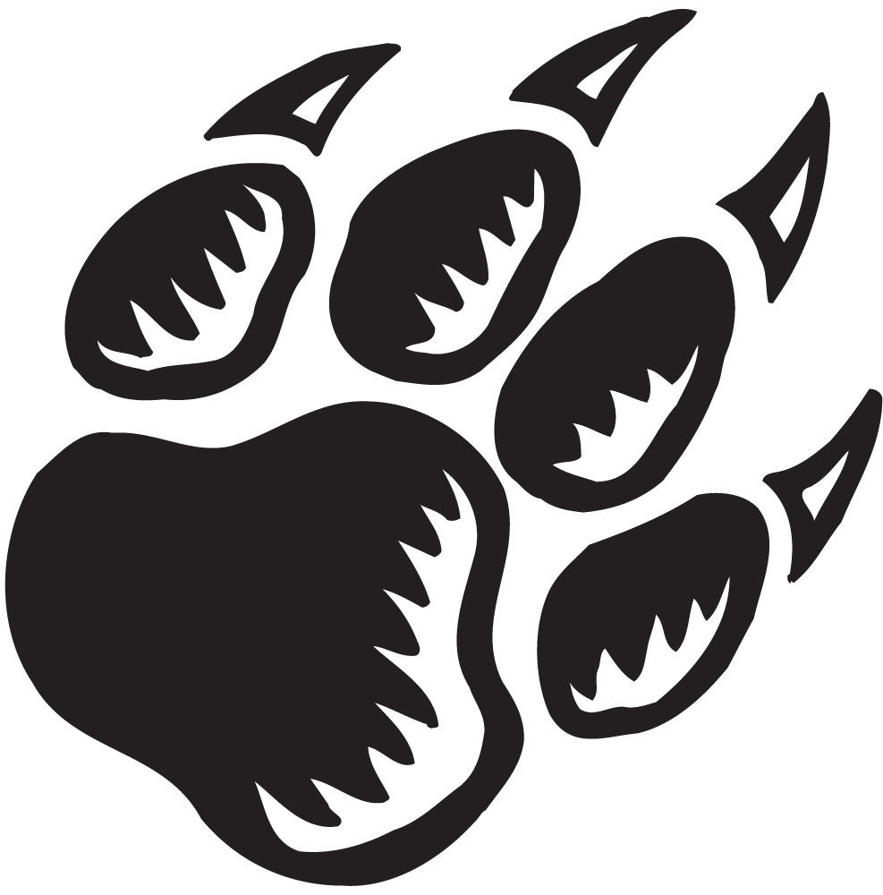 Panther Paw Print Cartoon Clipart Wolf Paw Print Paw Print Clip Art Wolf Paw
