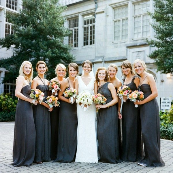 Charcoal Gray Bridesmaid Dresses - Dress Xy