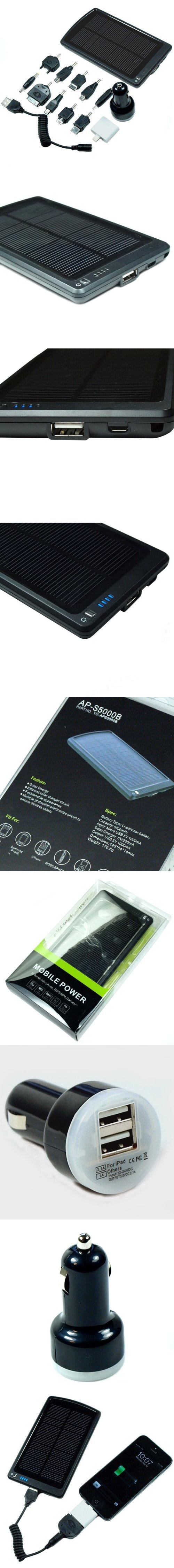 New Portable Usb Solar Charger Backup Battery W 8 Pin Converter For Iphone Circuit 5 One