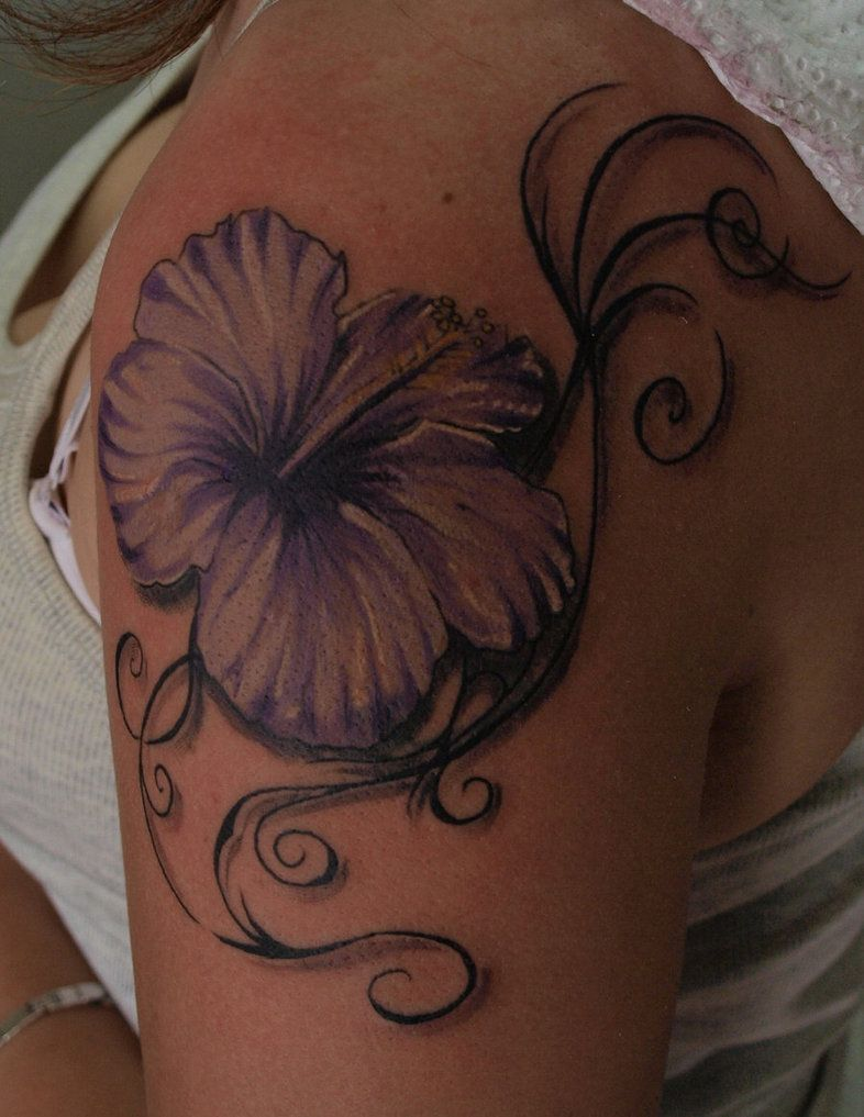Hibiscus tattoo by zombthc on deviantart tattoos pinterest hibiscus tattoo by zombthc on deviantart izmirmasajfo