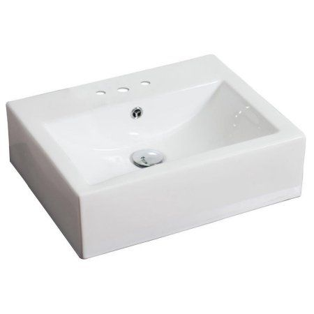 20 25 In W Above Counter White Vessel For 3h4 In Center Drilling Walmart Com Wall Mounted Bathroom Sinks Bathroom Sink Sink