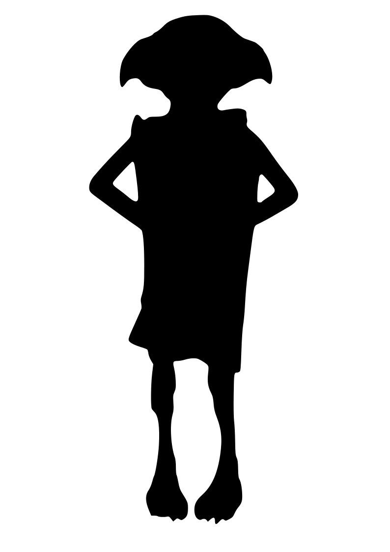 Dobby Is Free SVG for Silhouette and Cricut. Instant ... |Dobby Harry Potter Svg