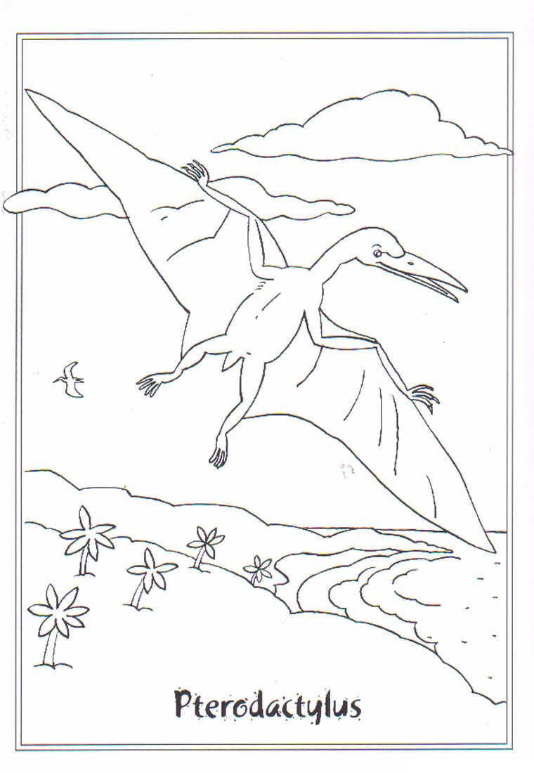 coloring page dinosaurs 2 pterodactylus coloring pinterest