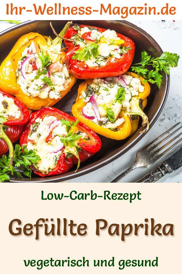 Low-Carb-Rezept für gefüllte Paprika – gesundes, vegetarisches Hauptgericht