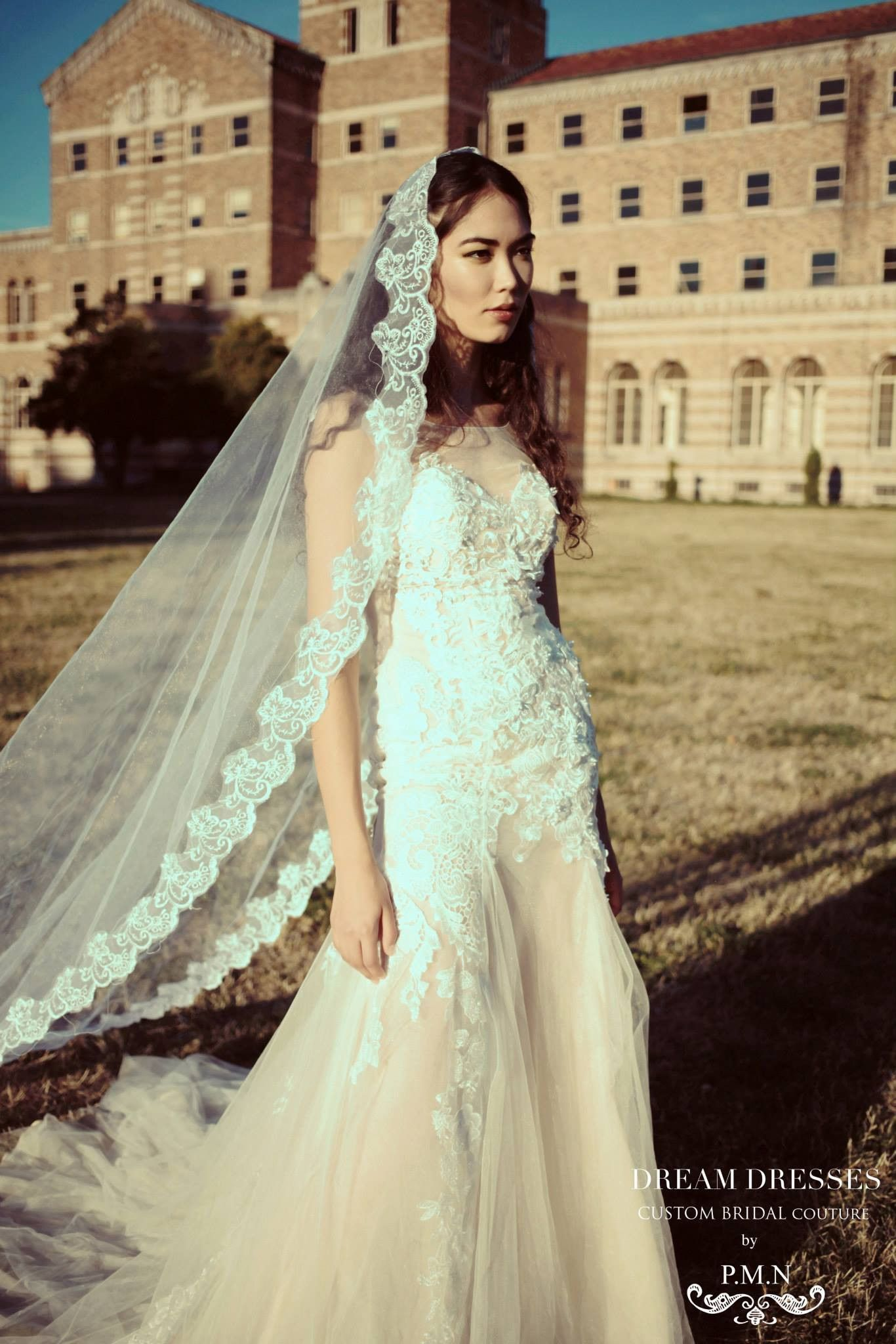 Cathedral Lace Wedding Veil (SS16306) Lace weddings