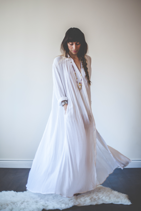4b6650e836 The Kundalini Gown is designed for the Aquarian Woman. All white ...