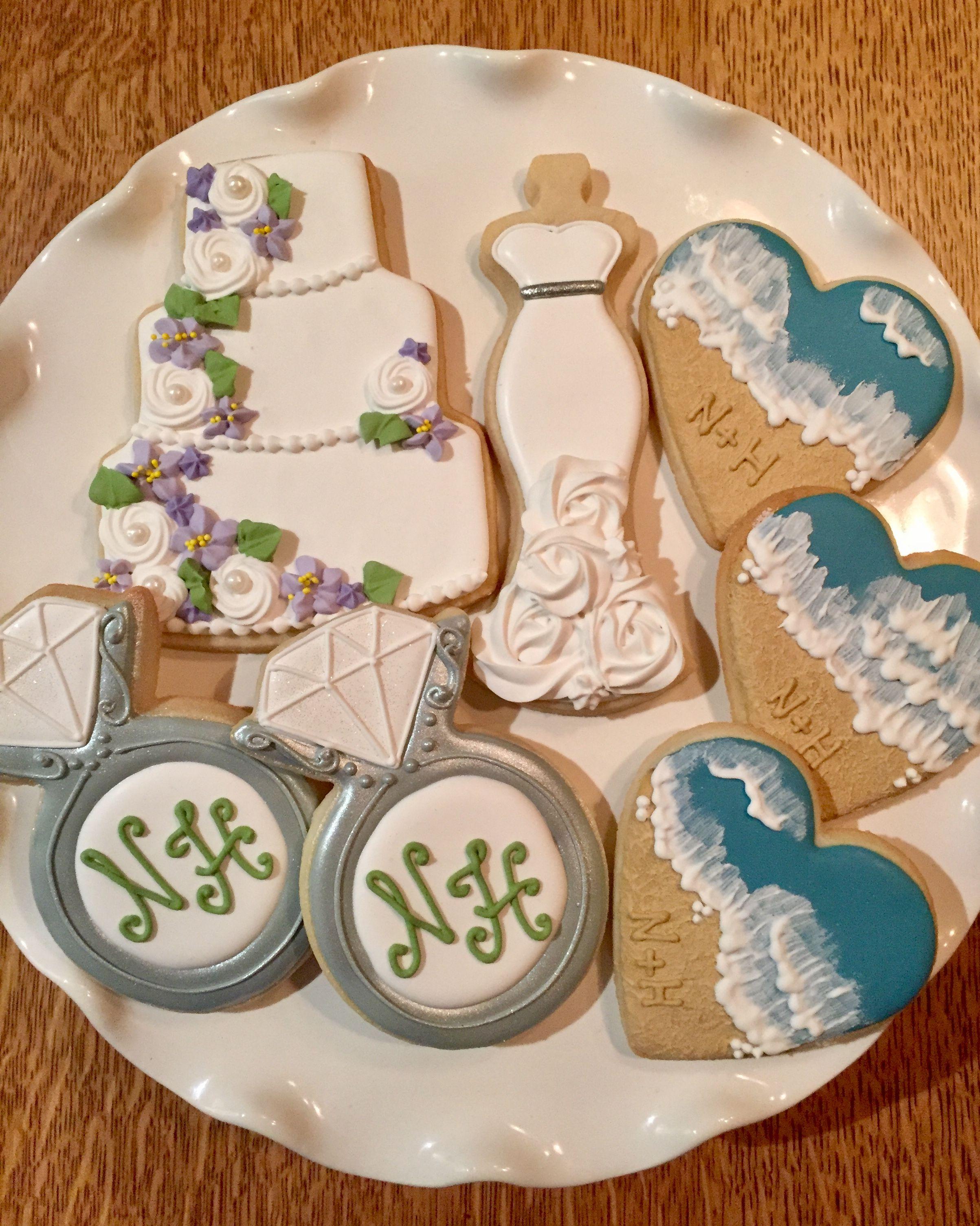 decorated wedding cookies ideas