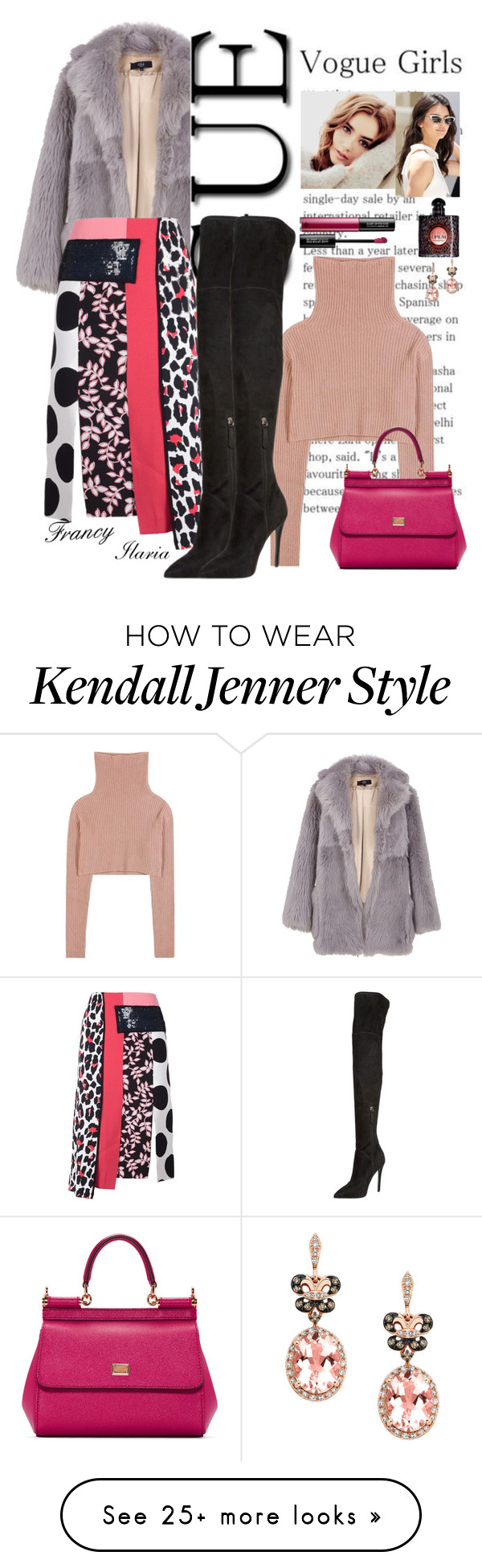 """""""Have a nice Saturday!"""" by estivamenti on Polyvore featuring TIBI, Valentino, MSGM, Kendall + Kylie, Dolce&Gabbana, MAKE UP FOR EVER, Yves Saint Laurent and Effy Jewelry"""