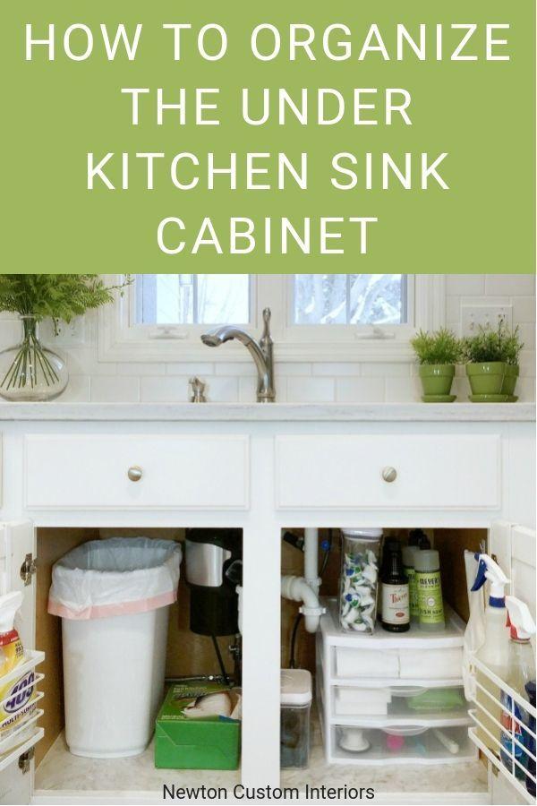 Organize Under Kitchen Sink Cabinet