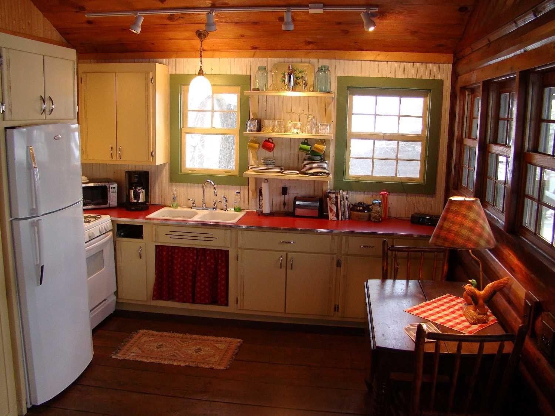 vintage log cabin retro custom cabinetry kitchen cabin interior design log cabin interior on kitchen interior classic id=74805