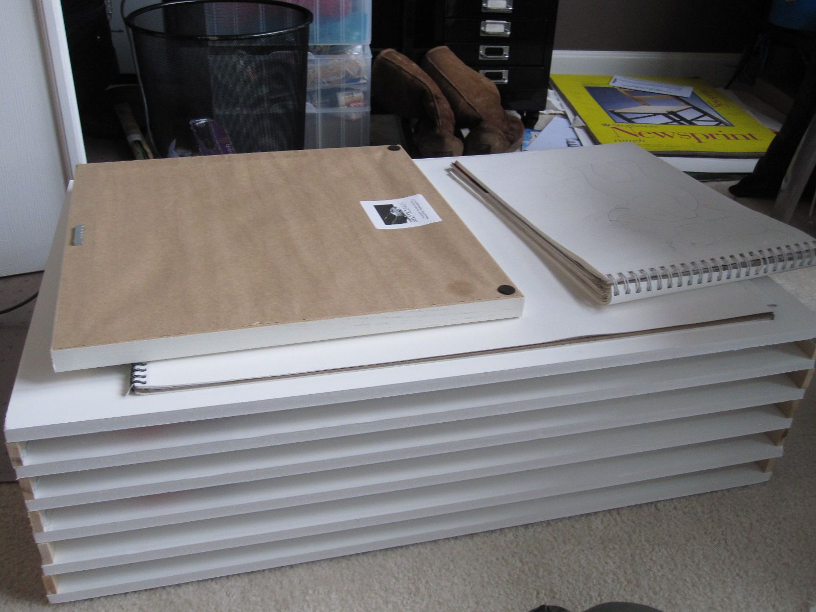 Diy Flat File Made Out Of Foam Core Not Sure If This Is The Longest Lasting Option But Cheap And Archival For Th Flat Files Flat File Cabinet Filing Cabinet