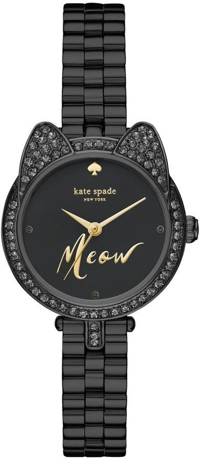 Kate Spade New York 'metro - Mini Cat' Crystal Case Watch, 26mm