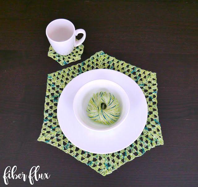 Free Crochet Pattern...Beach Grass Placemat and Coasters! (Fiber ...