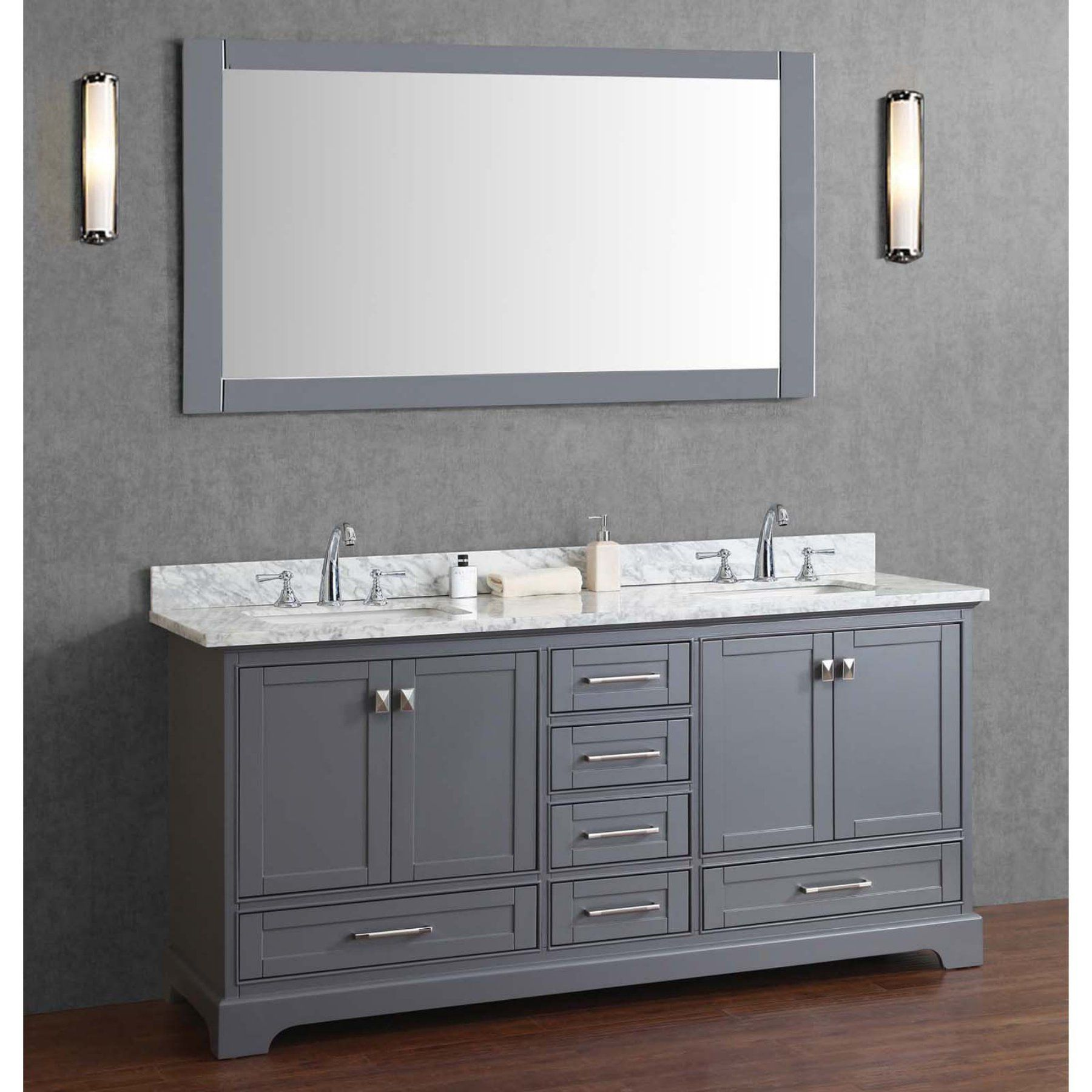 diy distressed bathroom vanity%0A Double Sink Bathroom Vanity with Mirror  HD    G