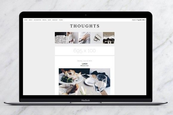 Thoughts Blogger Theme. $29.00