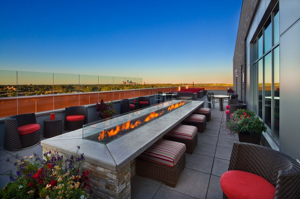 Outdoor Fire Pit And Beautiful Views From Our Rooftop