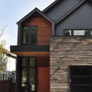 Painting Wood Siding Contemporary Exterior with Floor to Ceiling ...