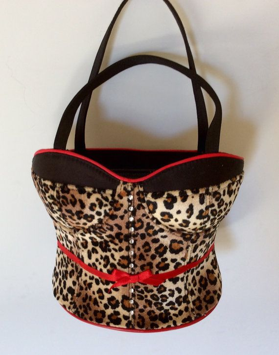 a99ae254e5b Etsy.com shop JezelleDesigns  Leopard Bustier Corset Purse Handbag with by  JezelleDesigns   BlingPurse  Bustierhandbag  Bling