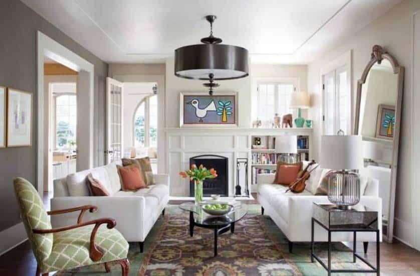 Rectangle Living Room Furniture Arrangement   Rectangular ...