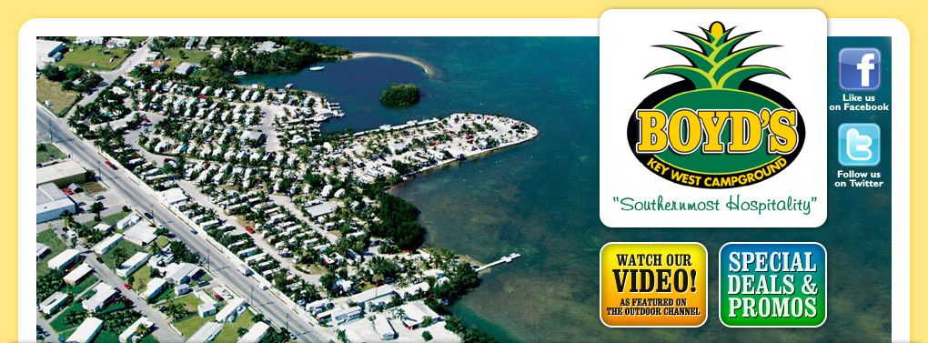 Boyd S Key West Campground Campground On The Lower Keys With Oceanfront Campsites Heated Swimm Key West Campgrounds Key West Camping Rv Parks And Campgrounds