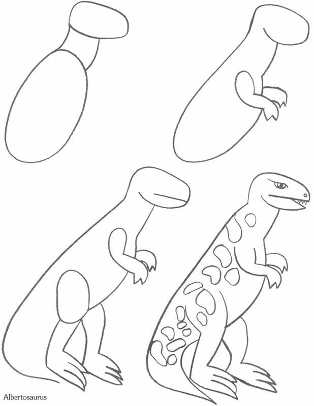 How to Draw a Dinosaur - free sample page from Dover Publications ...