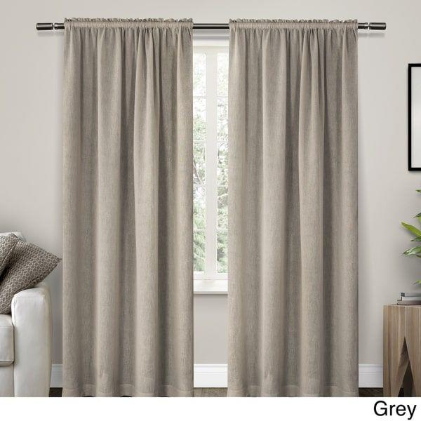 Ati Home Belgian Textured Rod Pocket Curtain Panel Pair Home