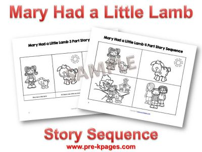 Great Mary Had A Little Lamb Printable Math And Literacy Nursery Rhyme Activities For Your Preschool Prek Or Classroom With Has