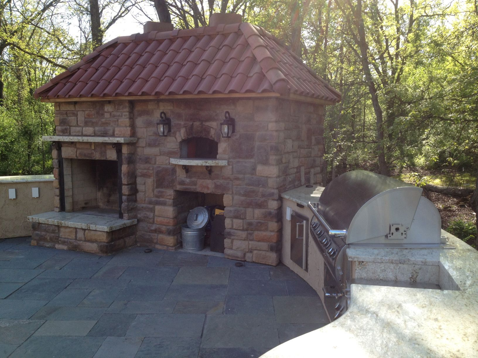 back yard design ideas pizza oven at the backyard patio