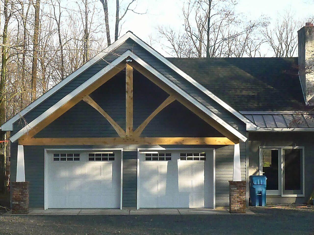 Attached Garage Addition 2 Car Garage Custom Addition Garage Addition Custom Garages Roof Design
