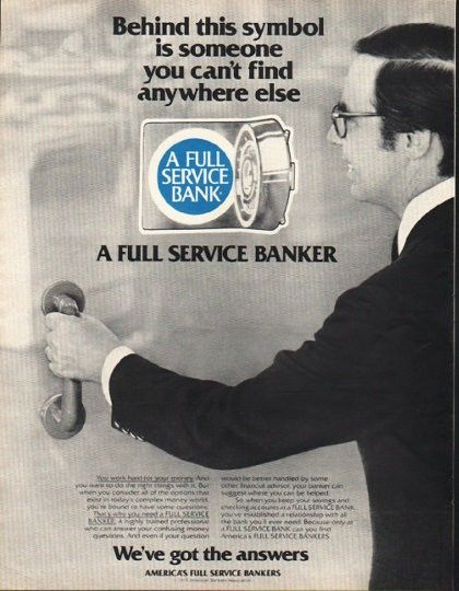 1980 America S Full Service Bankers Vintage Ad This Symbol