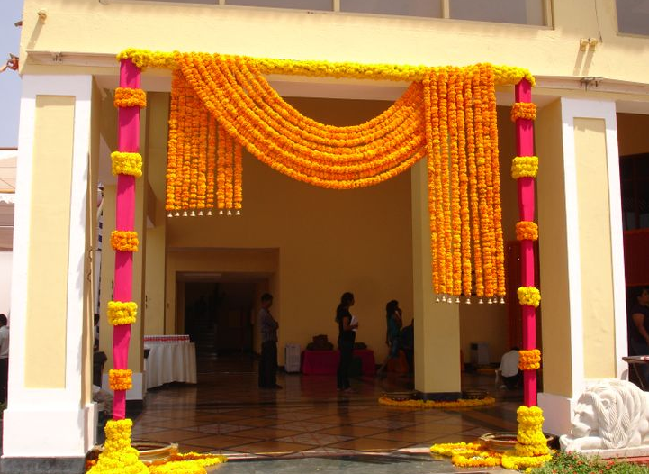 Marigold entrance deco festive pinterest marigold indian wedding photos marigold entrance deco junglespirit Images