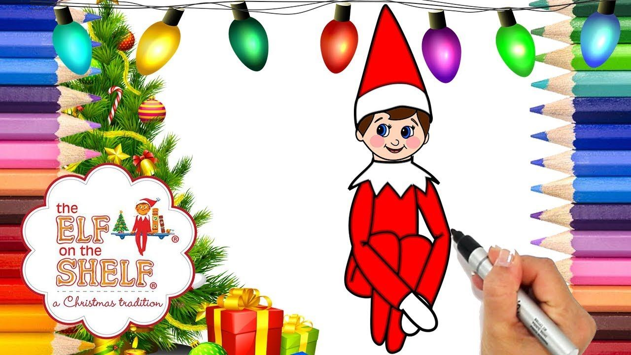 Coloring Elf on the Shelf Printable Coloring Page | Elf on the Shelf ...