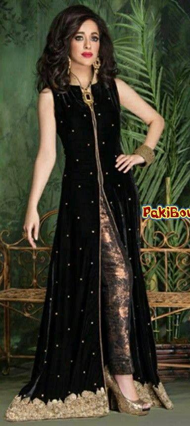 2095b0ee8 Moda India. Vestido Pakistaní. Black velvet More Vestidos Años 20