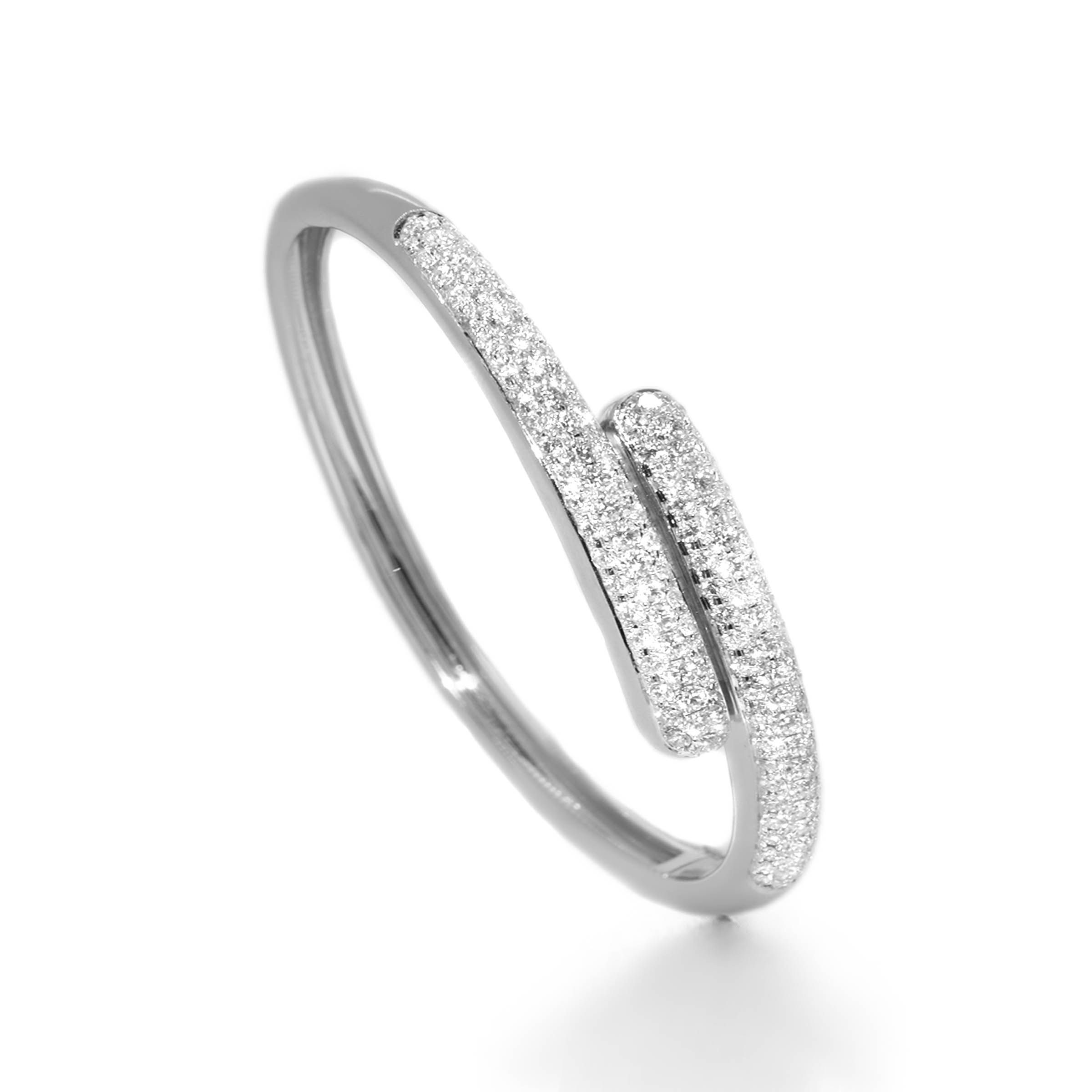 eternal back s with signature pave set tresor in silver bangles crystals paris bangle sterling charm